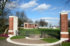 Canadian War Cemetery Groesbeek Royalty Free Stock Photos