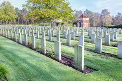 Canadian war cemetery in Holland Royalty Free Stock Image