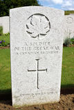 Canadian war grave from World War One Stock Image
