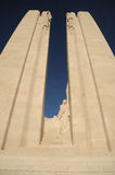 Canadian war memorial, Vimy Ridge, Belgium. Stock Images