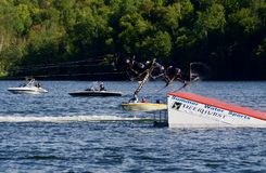 World Water Ski Show Tournament in Ontario, Canada on September 8, 2018 Royalty Free Stock Image