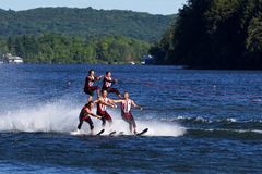 World Water Ski Show Tournament in Ontario, Canada on September 8, 2018 Stock Photos