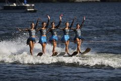 World Water Ski Show Tournament in Ontario, Canada on September 8, 2018 Stock Photography