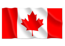 Canadian waving flag Royalty Free Stock Photos