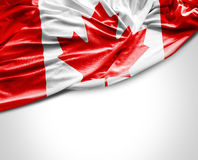 Canadian waving flag on white background Stock Photography