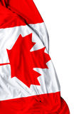 Canadian waving flag on white background Royalty Free Stock Images