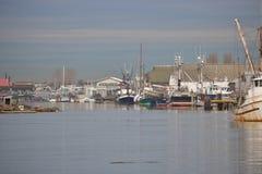 Canadian West Coast Fishing Village Royalty Free Stock Image