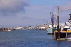Canadian West Coast Fishing Village Stock Photography