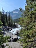 Canadian Wilderness Beauty. Spectacular scenery, fresh air and sparkling water are some of the attractions of Marble Canyon in Kootenay National Park in British Royalty Free Stock Photo
