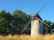Canadian windmills. Typical Canadian windmills in the province of Quebec Stock Images