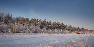 Canadian winter icy road condition. Winter icy road condition shoot.1 Stock Images
