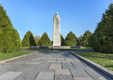 Canadian WW I war memorial in Langemark, Belgium. Stock Photography