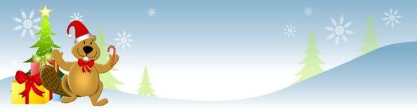 Canadian Xmas Beaver vector illustration