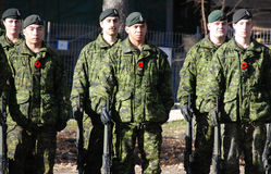 Canadians soldiers Royalty Free Stock Photos
