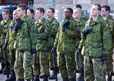 Canadians soldiers Stock Images