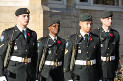Canadians soldiers. MONTREAL CANADA NOVEMBER 6 :Canadians soldiers in uniform for the remembrance Day on November 6, 2011, Montreal, Canada.The day was dedicated Stock Photos