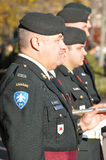 Canadians soldiers. MONTREAL CANADA NOVEMBER 6 :Canadians soldiers in uniform for the remembrance Day on November 6, 2011, Montreal, Canada.The day was dedicated Royalty Free Stock Photo
