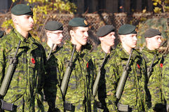 Canadians soldiers. MONTREAL CANADA NOVEMBER 6 :Canadians soldiers in uniform for the remembrance Day on November 6, 2011, Montreal, Canada.The day was dedicated Stock Photo