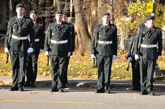 Canadians soldiers. MONTREAL CANADA NOVEMBER 6 :Canadians soldiers in uniform for the remembrance Day on November 6, 2011, Montreal, Canada.The day was dedicated Royalty Free Stock Image