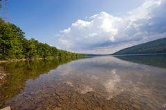 Canadice Lake. Wide angle view of Canadice Lake, one of the Finger Lakes, New York Royalty Free Stock Photos