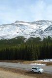 Canadien les Rocheuses de l'hiver Images libres de droits