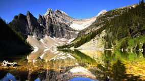 Canadien les Rocheuses et lacs Images libres de droits
