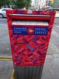 Canadienne aus. dei lettres di Boite Immagine Stock