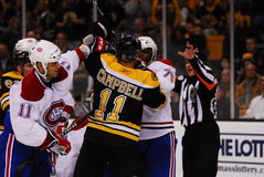 Canadiens-Bruins rivalry Stock Photography