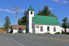 Canadiense Christian Church de la pequeña ciudad Fotografía de archivo