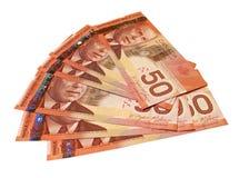 Canadiense cincuenta cuentas de dólar Foto de archivo libre de regalías