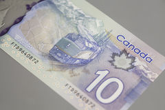 Canadiense 10 dólares Fotos de archivo libres de regalías