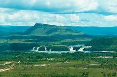 Canaima lagoon, Venezuela. Beautiful Canaima lagoon with waterfalls, Venezuela Stock Photos