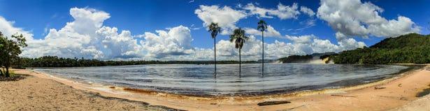 Canaima National Park, Bolivar, Gran Sabana, Venezuela. Canaima National Park is a 30,000 km² park in south-eastern Venezuela that borders Brazil and Guyana stock photo