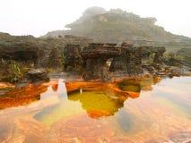 Canaima National Park. Venezuela. Landscape. Mount Roraima. Plateau of Tepuy. Canaima National Park. Venezuela. South America.  Natural pools. Jacuzzi Royalty Free Stock Image