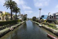 Canais da vizinhança de Veneza em Los Angeles Califórnia Fotos de Stock