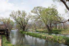 Canais de água estreitos Imagem de Stock Royalty Free