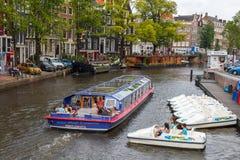 Canais de Amsterdão Imagem de Stock