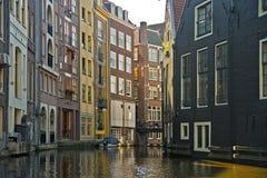 Canais de Amsterdão, Países Baixos Fotos de Stock Royalty Free
