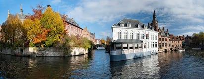 Canais de Bruges Foto de Stock Royalty Free