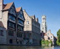Canais de Bruges, Bélgica Imagem de Stock Royalty Free