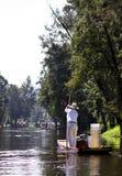 Canais de Cidade do México fotografia de stock