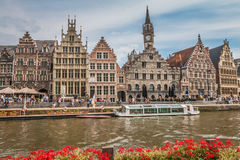 Canais de Ghent fotografia de stock royalty free