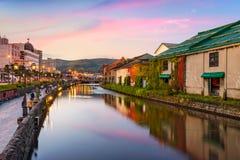 Canais de Otaru Japão Imagem de Stock Royalty Free