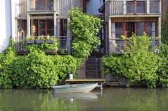 Canais de Strasbourg em França imagem de stock royalty free