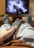 Canais de televisão do interruptor Fotos de Stock