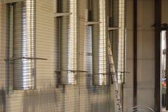 Canais do sistema de ventilação industrial Foto de Stock