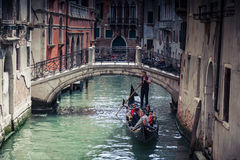 Canais em Veneza fotos de stock