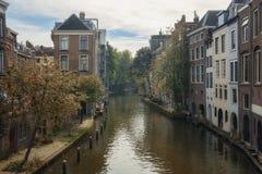 Canais frente e verso Utrecht foto de stock royalty free