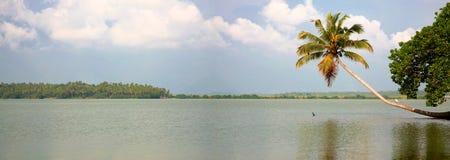 Canais nas águas traseiras em Kerala Fotografia de Stock