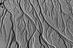 Canais trançados na areia Imagem de Stock Royalty Free